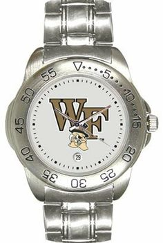 Wake Forest University Demon Deacons Mens Sports Steel Watch by SunTime. $49.95