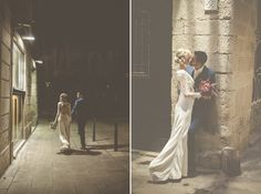 Cute wedding photographs. Barcelona wedding.