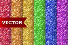 6 Seamless confetti patterns. by Xella_Design on Creative Market