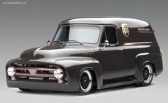 Something so cool with this rebuild. What brown did for this ride! - 1953 FORD FR100 UPS PANEL TRUCK