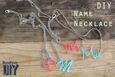How To Make Your Very Own Name Necklace