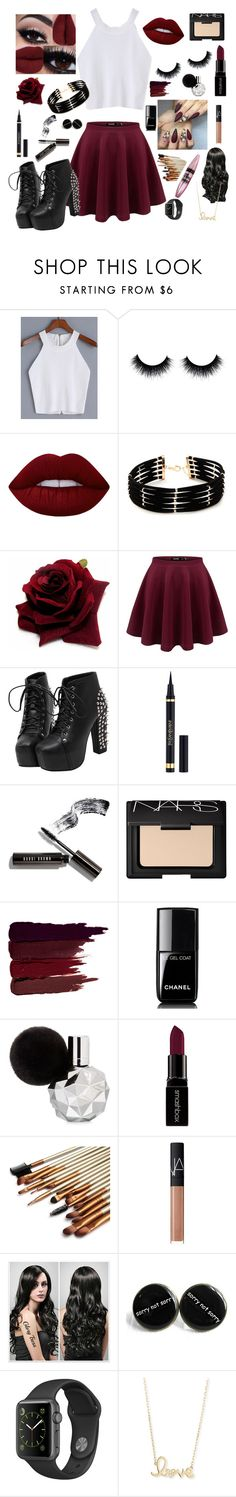 """""""Remake"""" by jaslynn-xoxo ❤ liked on Polyvore featuring Lime Crime, Forever 21, Yves Saint Laurent, Bobbi Brown Cosmetics, NARS Cosmetics, Serge Lutens, Chanel, Smashbox, Maybelline and Sydney Evan"""