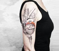 Abstract tattoo by Koit Tattoo