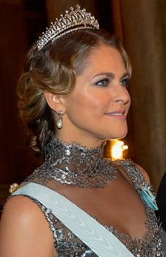 Princess Madeleine of Swedenat the traditional dinner for this year's Nobel Laureates at the Royal Palace in Stockholm2015-12-11