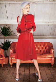 Sam Gold #ClassicWoman #MrsRobinsonMgt #Classic #Fashion #Model #GreyHair #AgelessBeauty