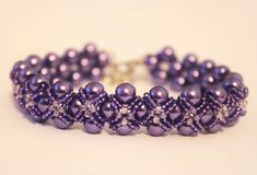Pearls and seed beads Beading Pattern PDF bracelet by Shinkabeads