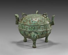 Ritual bronze food vessel ding, Eastern Zhou dynasty, late Spring and Autumn period, circa 6th–5th centuries B.C.