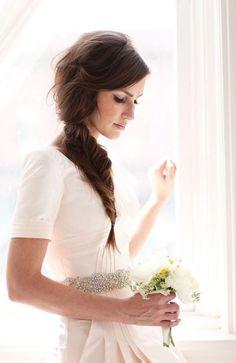 Wedding Hairstyle Bride Hair Long Hair