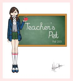 Teacher's pet fashion illustration