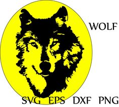 Wolf svg clip art file for cricut wolf head stencils vinyl svg clipart wolf iron on wolf dxf png eps