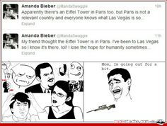 Why.....just why.....amanda needs to shut up oh and even worse....she is a bieber fan NUUU SHE IS ON THE DARK SIDE!!!!! WHY DARTH VADER WHYYYYY......Yoda: Stupid Amanda is....