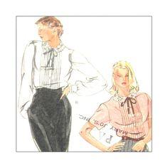 Vogue 7676 Vintage Vogue Sewing Pattern Misses Blouse Size 10 Uncut