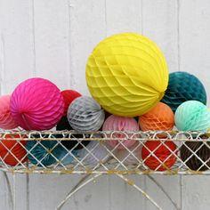 "Honeycomb Ball Decorations Paper Honeycomb Balls 3Pk 10"" Hanging Decoration Halloween Party"