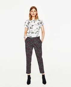 Imagine 1 din TOP DIN POPLIN CU IMPRIMEU de pe Zara