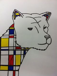 Mrs. Wille's Art Room: Mondrian inspired animal paintings