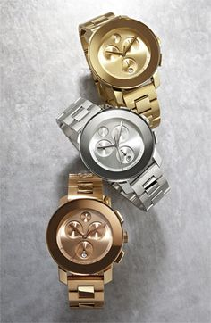 These Movado watches are so sleek. I want one in every color!
