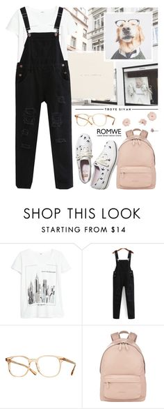 """""""Flourish & Blotts"""" by alexandra-provenzano ❤ liked on Polyvore featuring MANGO, Oliver Peoples, Givenchy and Keds"""