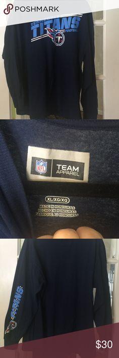 Tennessee Titans Men's Navy T shirt NFL team apparel Navy long sleeve T shirt. Size XL. NFL APPAREL Shirts Tees - Long Sleeve