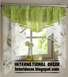Small curtains models for kitchens in different colors Small Window Curtains, Bathroom Window Curtains, Bathroom Windows, Small Windows, Colorful Curtains, Kitchen Curtains, Valance Curtains, Küchen Design, Interior Design