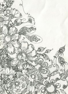 zentangle | Zentangle Inspirations / flowers zentangle