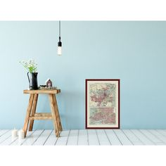 Old map of the world log cabin wall decor framed and unframed framed old map poster of sydney for log cabin wall art map decor for interior gumiabroncs Choice Image