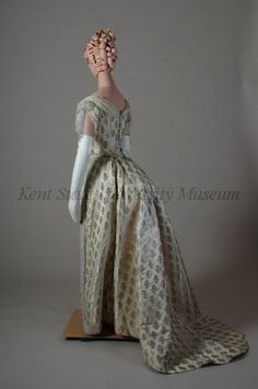 Old Rags - Evening dress, ca 1887 England, Kent State
