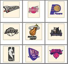 NBA BASKETBALL LOGOS SPORTS MACHINE EMBROIDERY DESIGNS
