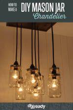 Learn to Make a DIY Mason Jar Chandelier   DIY Lighting