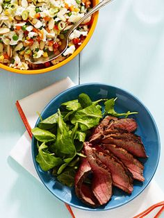 London Broil with Rice Salad #myplate #beef #grill