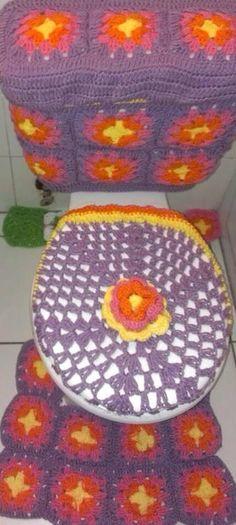 Juegos De Baño Tejidos:Crochet Snowman Toilet Set
