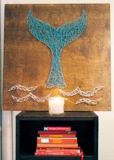 DIY Whale Tail String Art | Kept