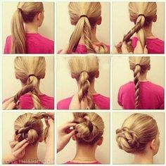 DIY hair bun