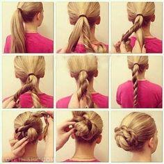 DIY bun diy diy crafts do it yourself diy art diy tips diy ideas diy bun diy hair bun diy fashion easy diy