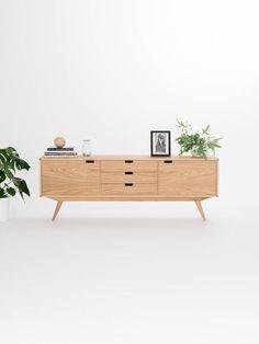 sideboard credenza dresser commode made of oak wood