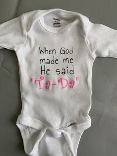 God Made Me, Onesies, Sayings, Kids, Baby, Clothes, Children, Outfit, Boys