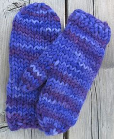 super bulky quick mittens:  http://knittingpureandsimple.com/wp-content/uploads/freepatterns/Knitting_pattern_SuperBulkyMittenWomen_1107_5.pdf