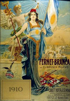 Fernet Branca. Afiche 1910. Centenario Argentina.