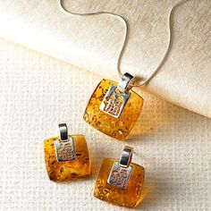 "Pretty ""Amber Bliss"" jewelry from the Smithsonian store."