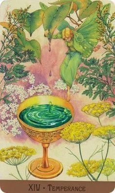 XIV. Temperance - The Victorian Fairy Tarot by Lunaea Weatherstone, Gary A. Lippincott
