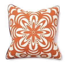 Orange pillow in an awesome print.