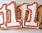 Baseball cookies, First birthday cookies, Number One