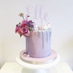 Silver Drip Cake 14th Birthday Cakes, Elegant Birthday Cakes, Novelty Birthday Cakes, Beautiful Birthday Cakes, Birthday Cakes For Women, Novelty Cakes, Beautiful Cakes, Jasmine Cake, Purple Cakes