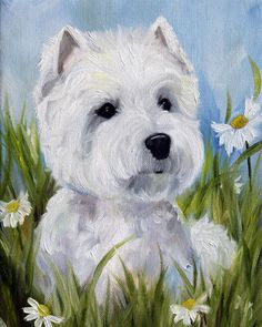 PRINT Westie West Highland Terrier Dog by HangingtheMoonShelby, $29.95