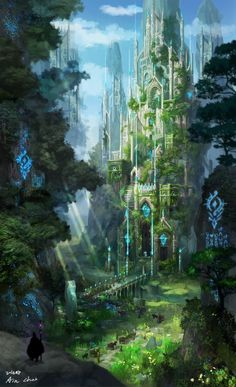 Cathedral of the cliff, ain choi on ArtStation at … – Kathedrale der Klippe, ain choi auf. Fantasy City, Fantasy Castle, Fantasy Places, Fantasy Kunst, Fantasy World, Dark Fantasy, Fantasy Artwork, Fantasy Art Landscapes, Fantasy Concept Art