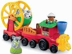 Amazon.com: Fisher-Price Little People Zoo Talkers Animal Sounds Train: Toys & Games