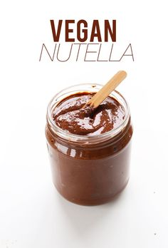 Recipe for vegan Nutella. Posted on minimalistbaker.com by Dana and John.