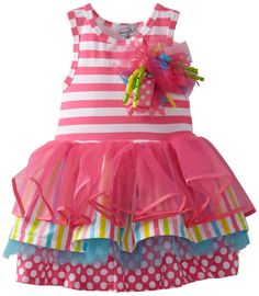 Amazon.com: Mud Pie Baby Girls' Tiered Birthday Party Tutu Dress, Multi, 12 18 Months: Infant And Toddler Special Occasion Dresses: Clothing