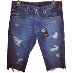 b8eb6fac Designer Clothes, Shoes & Bags for Women | SSENSE. Mens Distressed Denim  ShortsDenim ...