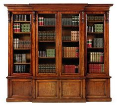 Would love to have a room someday lined wall to wall in bookcases like these, $10,000 price tag be damned.