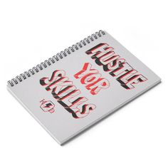 'HYS' Spiral Notebook - Ruled Line School Notes, Shopping Lists, Back To Black, Line, Spiral, Poems, Notebook, Printed, Paper